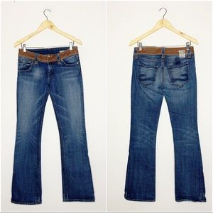 Chip & Pepper Leather Detail Bootcut Jean Size 27